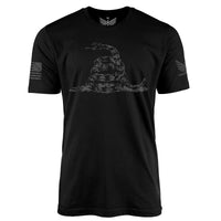 Don't Tread On Me (Black Edition) - Short Sleeve T-Shirt-Unisex Shirt-Ardent Patriot Apparel Co.