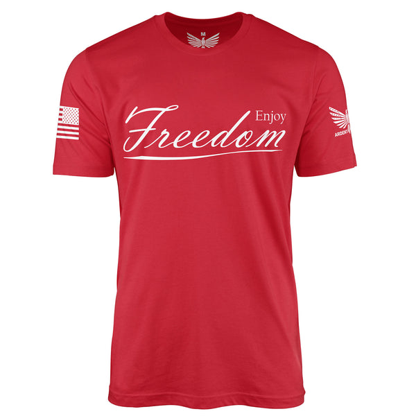 Enjoy Freedom - Short Sleeve T-Shirt-Unisex Shirt-Ardent Patriot Apparel Co.
