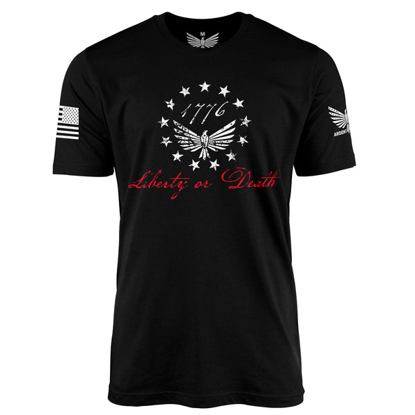Liberty Or Death - Short Sleeve T-Shirt-Unisex Shirt-Ardent Patriot Apparel Co.