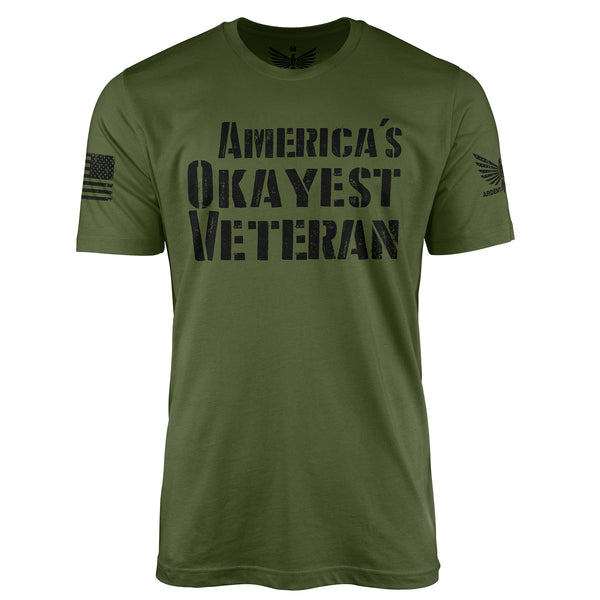America's Okayest Veteran - Short Sleeve T-Shirt-Unisex Shirt-Ardent Patriot Apparel Co.