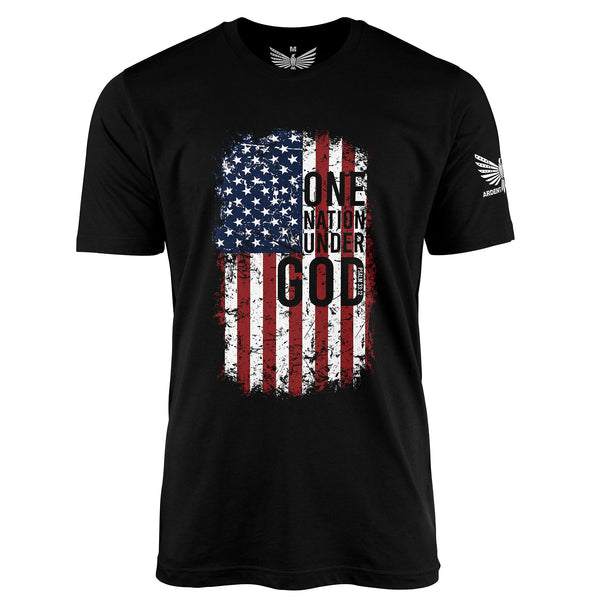 One Nation - Short Sleeve T-Shirt-Unisex Shirt-Ardent Patriot Apparel Co.