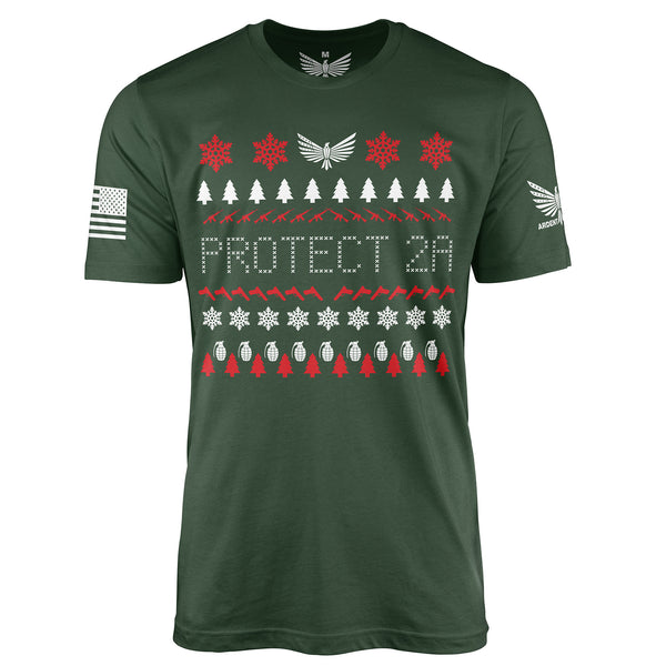 Protect 2A - Christmas T-Shirt-Unisex Shirt-Ardent Patriot Apparel Co.