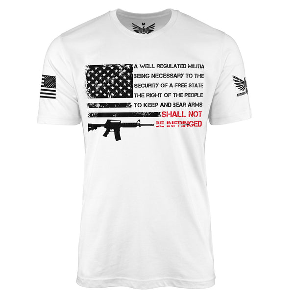 Shall Not Be Infringed - Short Sleeve T-Shirt-Unisex Shirt-Ardent Patriot Apparel Co.