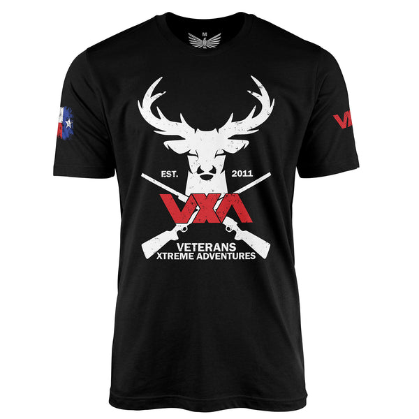 VXA Texas Stag Hunter - Short Sleeve T-Shirt-Unisex Shirt-Ardent Patriot Apparel Co.