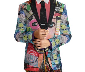 "BG ""1of1"" Basquiat Blazer-Eye See You"