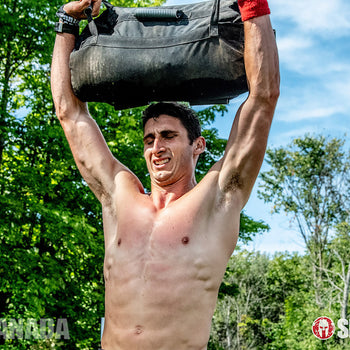 Elite Force Gear overhead press on the Spartan Canada WRECKED obstacle