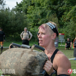 Elite Force Gear Wrecker Training Sandbag on the Spartan Canada WRECKED  obstacle
