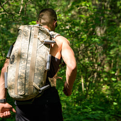 Rucking with the Elite Force Gear Camo Wrecker training sandbag 2