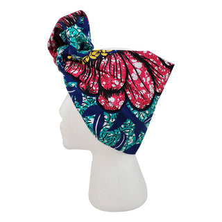 Hawaiian Blues Open Crown Headwrap - OJ Styles and Accessories
