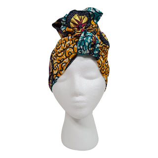 Metallic Gold Fun Open Crown Headwrap - OJ Styles and Accessories