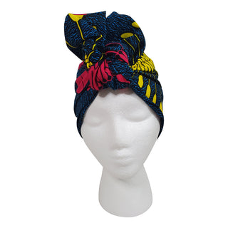 Deep Blue Sea Open Crown Headwrap - OJ Styles and Accessories