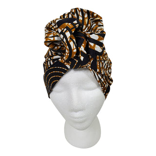 Mazing Black Open Crown Headwrap - OJ Styles and Accessories