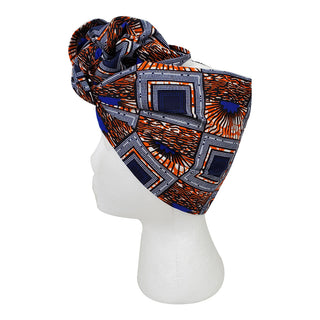 Spectrum Blue Open Crown Headwrap - OJ Styles and Accessories