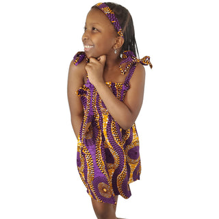 Purple Crown Girl's Smock Dress - OJ Styles and Accessories