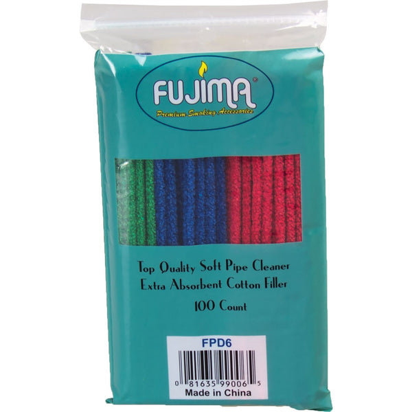 Fujima Rainbow Soft Bristle Pipe Cleaners - 100 pack