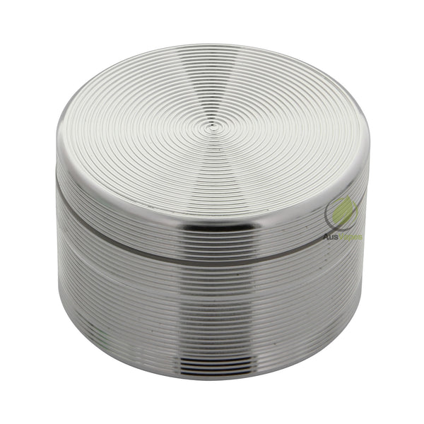 Silver Ripple Aluminium Grinder 60mm - 4 pc.