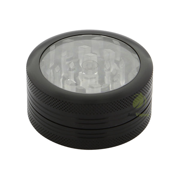 Black Aluminium Clear Top Grinder 50mm - 2 pc.