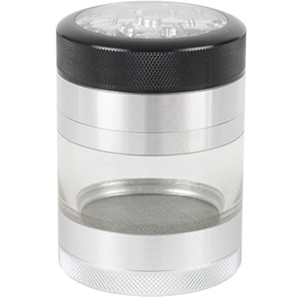 Kannastor 56mm CLEAR TOP 4pc Grinder-Sifter-Jar