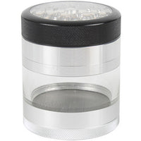 Kannastor 63mm CLEAR TOP 4pc Grinder-Sifter-Jar
