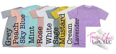 Tres Chic Loft LLC Sublimation shirt options
