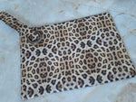 Load image into Gallery viewer, Leopard Casey Oversized Soft  Vegan Leather Clutch