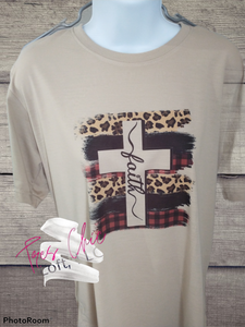 Faith Leopard Cross