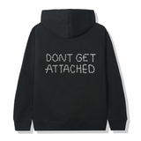 Attached Embroidered Hoodie / Black