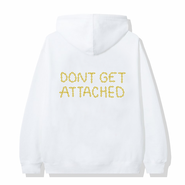 Attached Embroidered Hoodie / White
