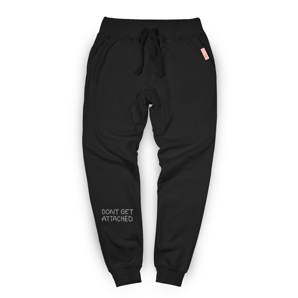 Attached Embroidered Sweatpants / Black