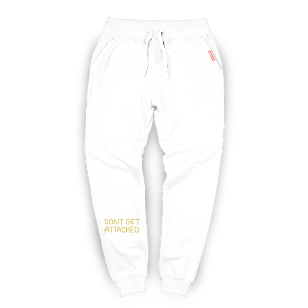 Attached Embroidered Sweatpants / White