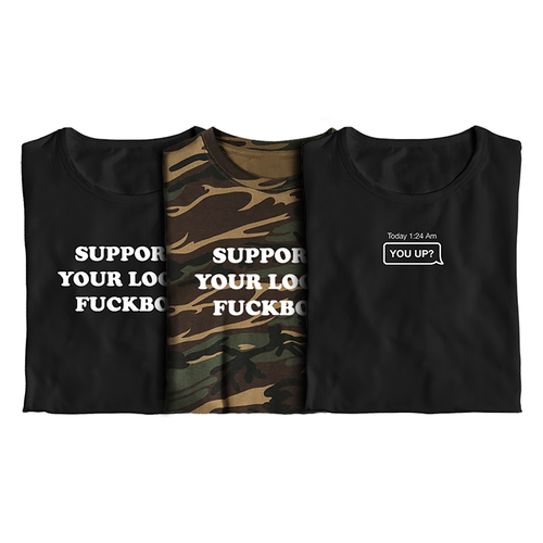 Fuck Boy Starter Kit / 3-Pack Tees
