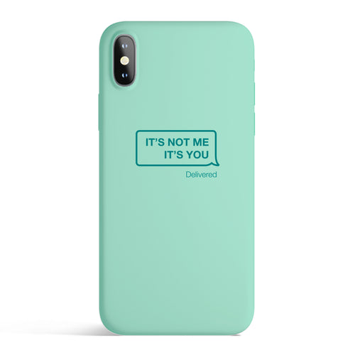 It's Not Me iPhone Case / Teal