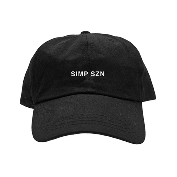 Simp Szn Embroidered Hat / Black