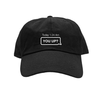 You Up? Embroidered Hat / Black