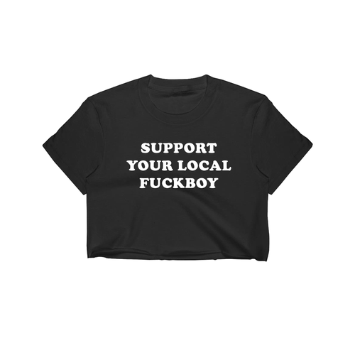 Local Boy Crop Tee / Black