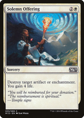 Solemn Offering [Magic 2015] | Card N All Gaming