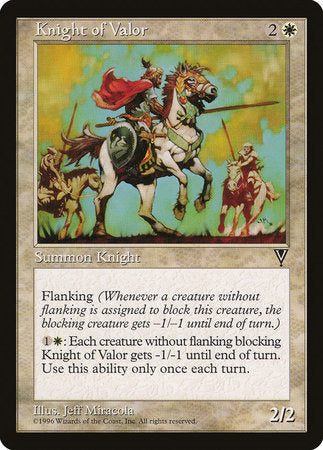 Knight of Valor [Visions] | Card N All Gaming