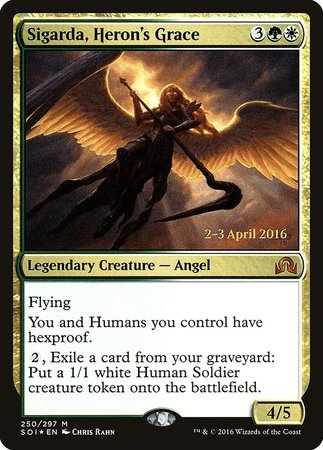 Sigarda, Heron's Grace [Shadows over Innistrad Promos] | Card N All Gaming