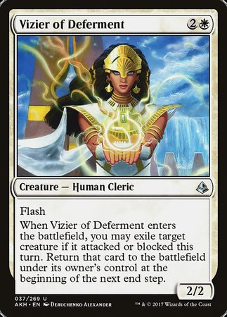 Vizier of Deferment [Amonkhet] | Card N All Gaming
