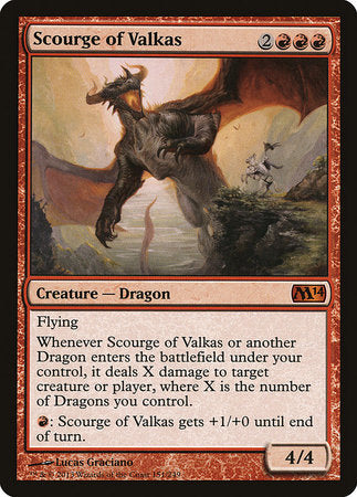 Scourge of Valkas [Magic 2014] | Card N All Gaming