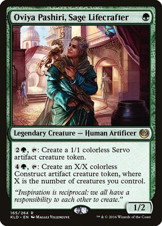 Oviya Pashiri, Sage Lifecrafter [Kaladesh] | Card N All Gaming
