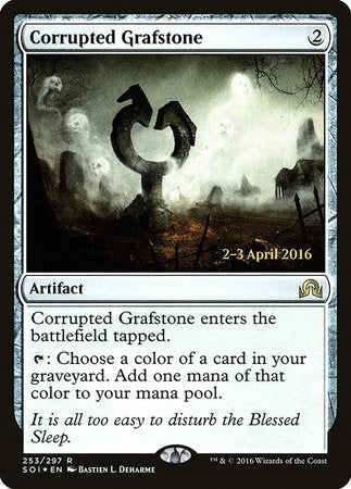 Corrupted Grafstone [Shadows over Innistrad Promos] | Card N All Gaming
