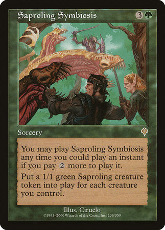 Saproling Symbiosis [Invasion] | Card N All Gaming