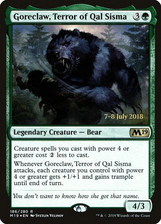 Goreclaw, Terror of Qal Sisma [Core Set 2019 Promos] | Card N All Gaming