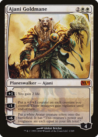 Ajani Goldmane [Magic 2011] | Card N All Gaming