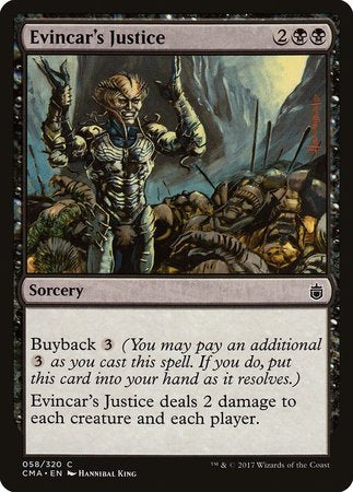 Evincar's Justice [Commander Anthology] | Card N All Gaming