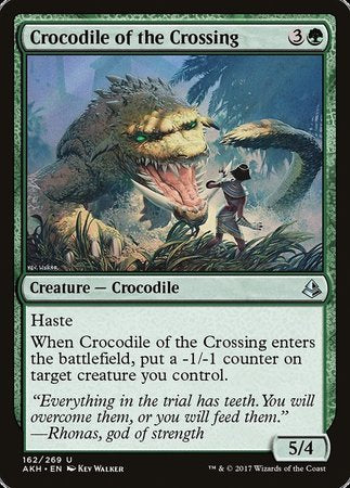 Crocodile of the Crossing [Amonkhet] | Card N All Gaming