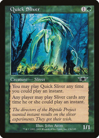 Quick Sliver [Legions] | Card N All Gaming