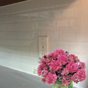 All-White Subway Tiles 3D Peel and Stick Tiles