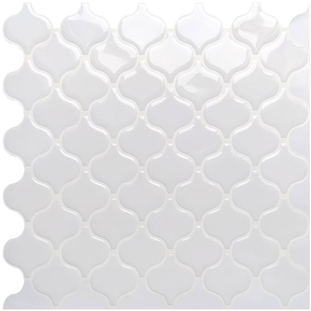 All-White Lantern 3D Peel and Stick Tiles